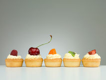 Tart arranged in line Royalty Free Stock Image