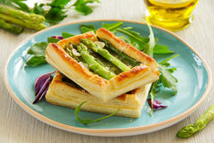Tart of asparagus Royalty Free Stock Image