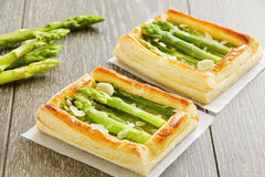 Tart of asparagus. Royalty Free Stock Photo