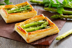 Tart of asparagus Stock Photo