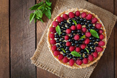 Tart with berries Royalty Free Stock Photography
