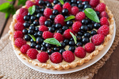 Tart with berries Royalty Free Stock Photos