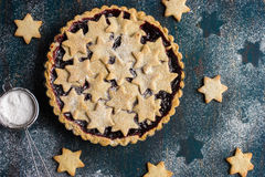 Tart with berries jam and cookies Stock Photography