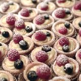 Tart with berries Stock Photos