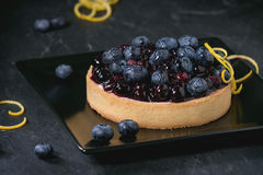 Tart with blueberries Royalty Free Stock Images