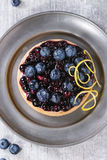 Tart with blueberries Royalty Free Stock Photos