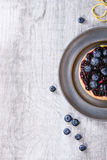 Tart with blueberries Royalty Free Stock Image