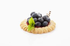 Tart with blueberries Royalty Free Stock Photography