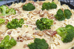 Tart with broccoli Stock Images