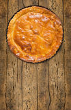 Tart,cake,pie, base  in baking dish ,copy space Stock Image