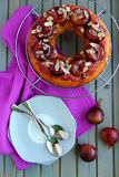 Tart with caramelized figs Royalty Free Stock Photography
