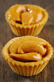Tart with cashew nut on wooden Stock Image