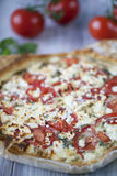 Tart with cheese and tomatoes Royalty Free Stock Image