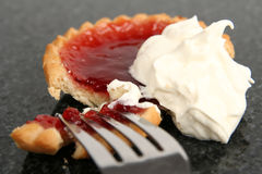 Tart and cream royalty free stock image