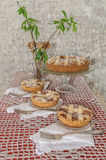 Tart (crostata) with mascarpone and chocolate cream Stock Photography