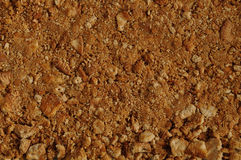 A tart crust made out of crushed biscuits and melted butter Royalty Free Stock Image