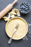 Tart dish with pastry base before being filled to be baked Stock Image