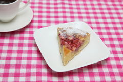 Tart on a dish Royalty Free Stock Images
