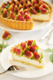 Tart with figs Stock Image