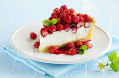 Tart with forest strawberries Stock Image