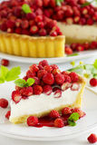 Tart with forest strawberries Stock Photo