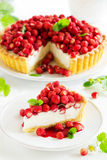 Tart with forest strawberries Stock Photography