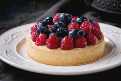 Tart with fresh berries Royalty Free Stock Photo
