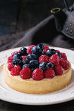 Tart with fresh berries Stock Photography