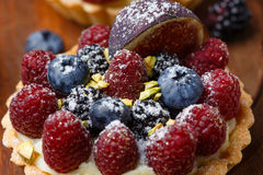 Tart with fresh berries Royalty Free Stock Photos