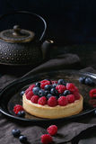 Tart with fresh berries Royalty Free Stock Images