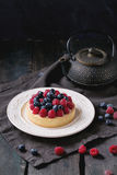 Tart with fresh berries Stock Image