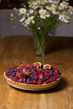 Tart with fresh berries Stock Images