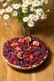 Tart with fresh berries Royalty Free Stock Image