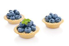 Tart with fresh blueberries Stock Photo