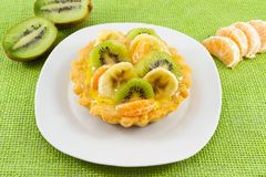 Tart with fresh fruit Royalty Free Stock Photo