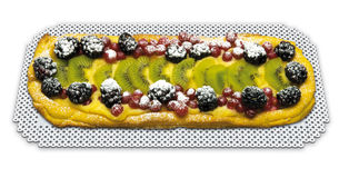 Tart fruit rectangular Royalty Free Stock Photography