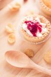 Tart fruit. On wooden tray Stock Image