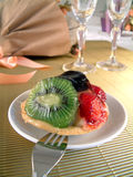 Tart with fruits Royalty Free Stock Photo