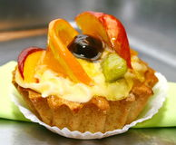 Tart with fruits stock photo