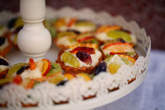 Tart with fruits Royalty Free Stock Images