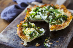 Tart with green vegetable Stock Image