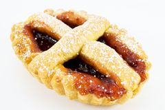 Tart with jam Royalty Free Stock Image