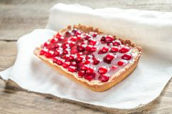 Tart with jellied fresh cranberries Stock Photography