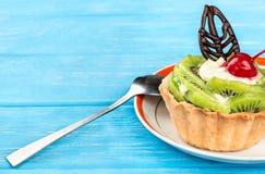 Tart with kiwi Stock Images