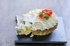 Tart with lemon cream and meringue Royalty Free Stock Image