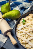 Tart made ​​with fresh pears Stock Photo