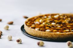 Tart With Nuts stock photography