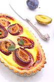 Tart of pastry with plums Stock Photography