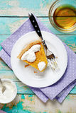 Tart on plate with sour cream Stock Photography
