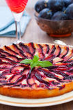 Tart with plums Stock Image
